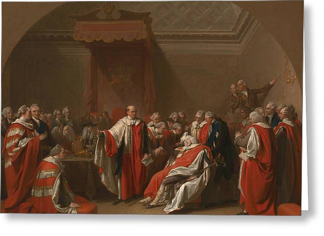 The Death Of Chatham Greeting Card by Benjamin West
