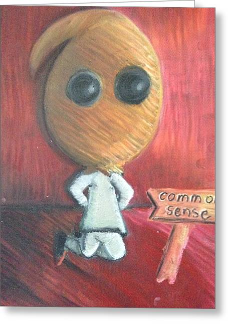 The Death Of Common Sense Greeting Card by Regina Jeffers
