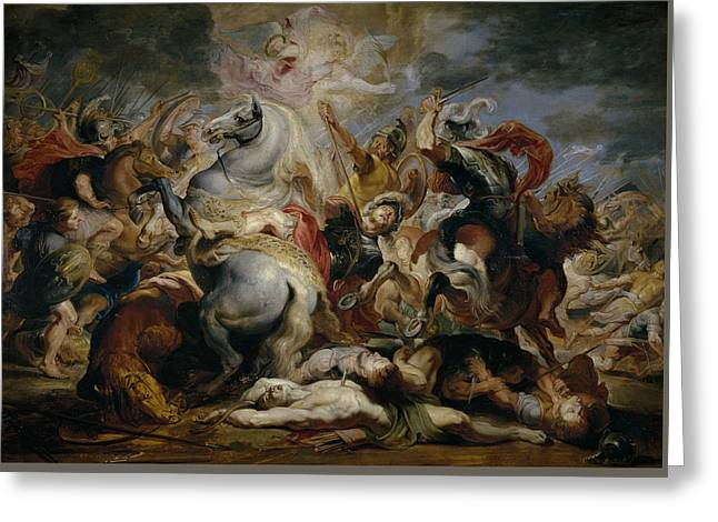 The Death Of Decius Mus Greeting Card by Peter Paul Rubens
