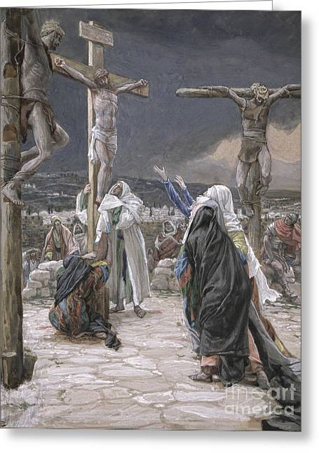 Christian Verses Greeting Cards - The Death of Jesus Greeting Card by Tissot