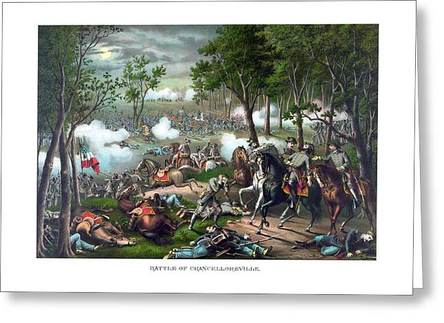Military Generals Greeting Cards - The Death Of Stonewall Jackson Greeting Card by War Is Hell Store