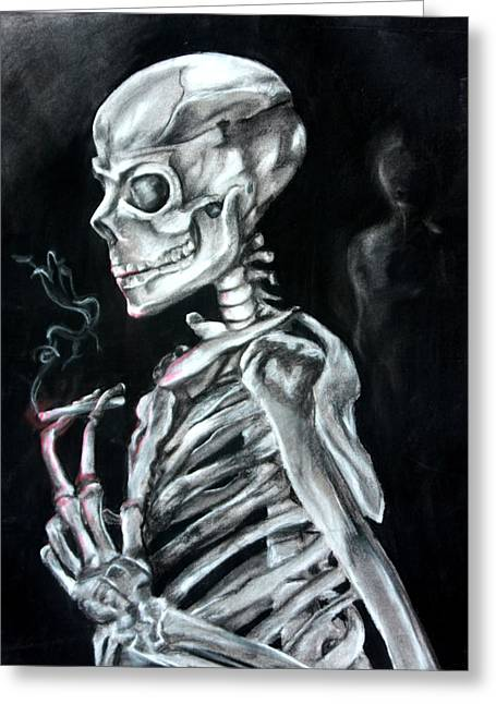 Creepy Pastels Greeting Cards - The Decision Greeting Card by Connie Wilkerson-Arp