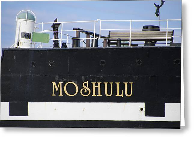 The Deck Of The Mushulu Greeting Card by Bill Cannon