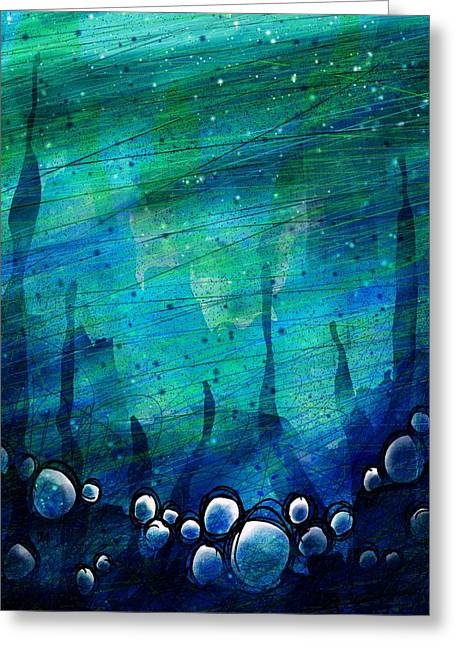 Sea Life Digital Greeting Cards - The Deep Places Greeting Card by Rachel Christine Nowicki