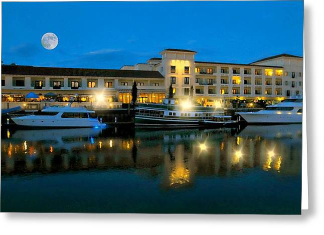Boats At Dock Greeting Cards - The Delamar Greeting Card by Diana Angstadt