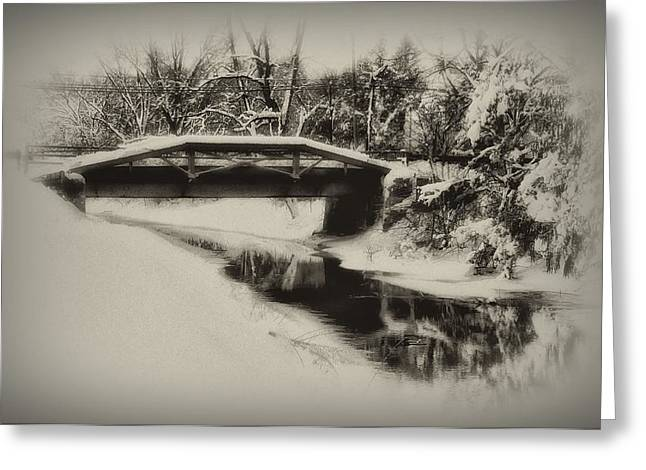 Delaware Digital Art Greeting Cards - The Delaware Canal at Washingtons Crossing  Greeting Card by Bill Cannon