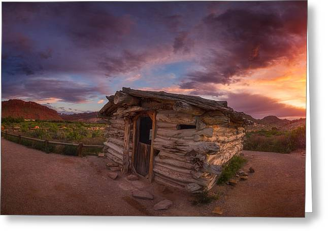 Old Cabins Greeting Cards - The Delicate Little Cabin Greeting Card by Darren  White