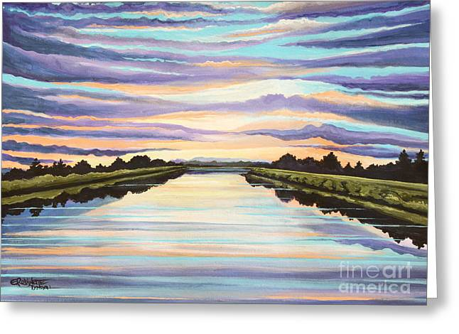 The Delta Experience Greeting Card by Elizabeth Robinette Tyndall