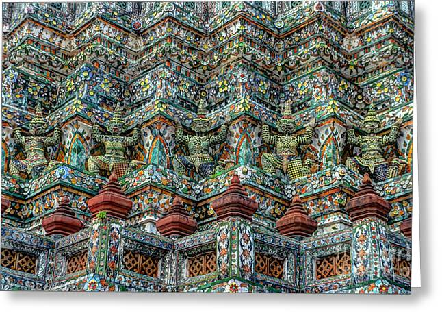 Michelle Greeting Cards - The Demons Of The Temple Greeting Card by Michelle Meenawong