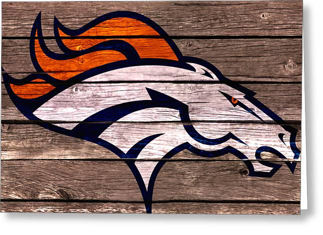The Denver Broncos 4d Greeting Card by Brian Reaves