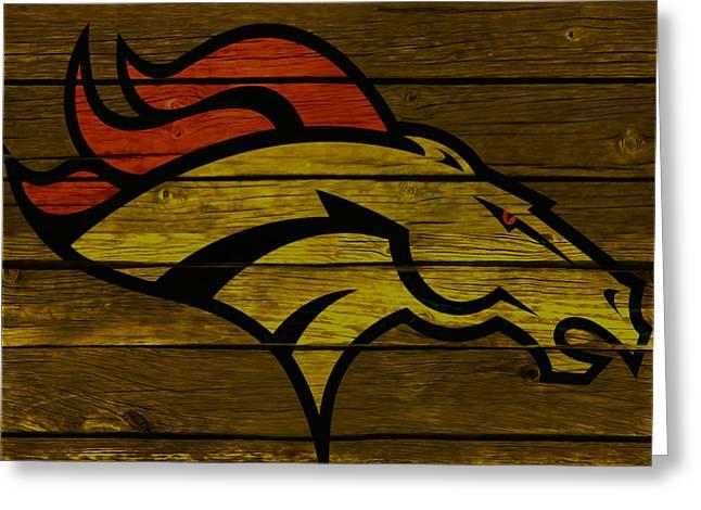 The Denver Broncos 4e Greeting Card by Brian Reaves