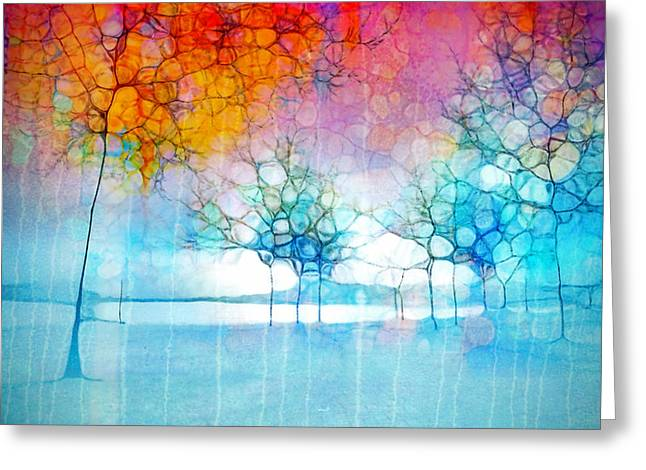 Mountain Valley Greeting Cards - The Departing Trees Greeting Card by Tara Turner