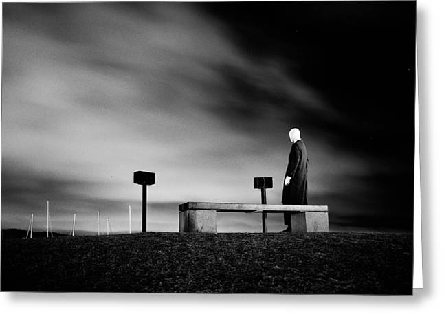 Loneliness Greeting Cards - The Depleted Self Greeting Card by Bendik Johan Stalsett Folleso