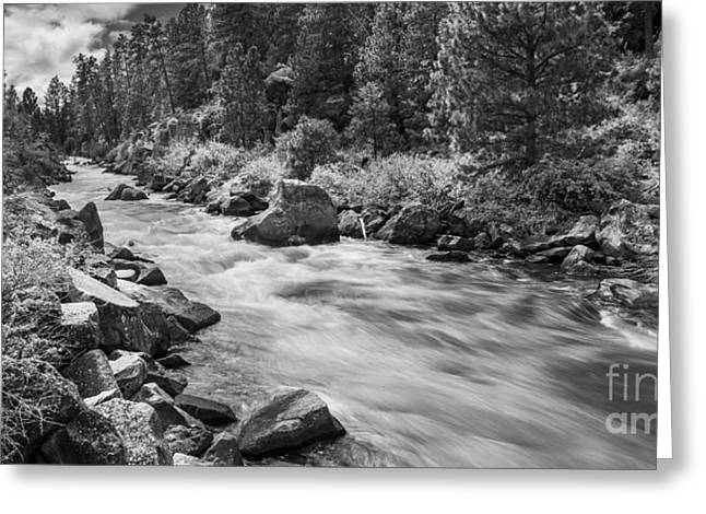 The Deschutes River Panorama Greeting Card by Twenty Two North Photography