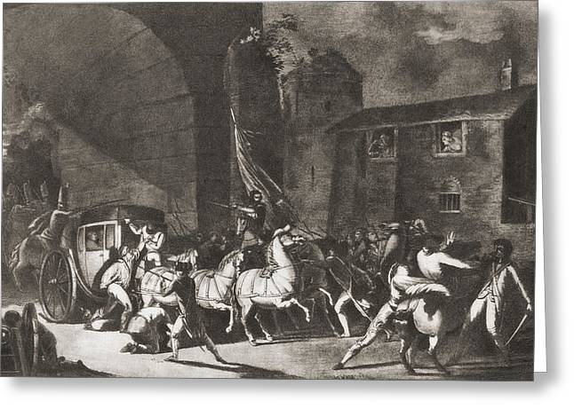 Detention Greeting Cards - The Detention Of French King Louis Xvi Greeting Card by Ken Welsh