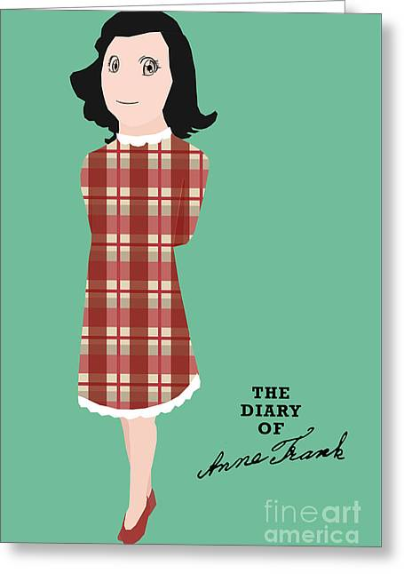 The Diary Of Anne Frank Book Cover Movie Poster Art 1 Greeting Card by Nishanth Gopinathan