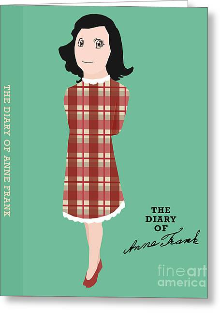 The Diary Of Anne Frank Book Cover Movie Poster Art 2 Greeting Card by Nishanth Gopinathan