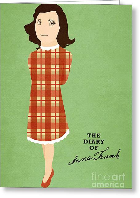 The Diary Of Anne Frank Book Cover Movie Poster Art 3 Greeting Card by Nishanth Gopinathan
