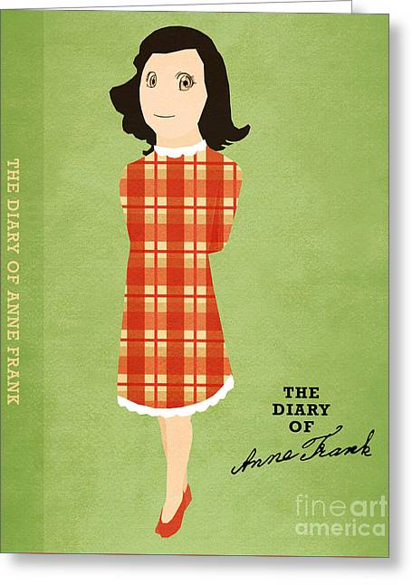 The Diary Of Anne Frank Book Cover Movie Poster Art 4 Greeting Card by Nishanth Gopinathan