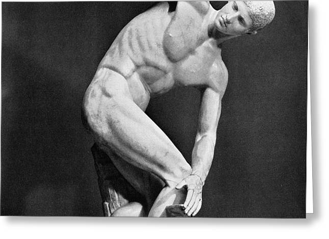 THE DISCOBOLUS, 450.B.C Greeting Card by Granger