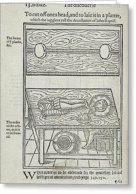 The Discovery Of Witchcraft, 1584 Greeting Card by Folger Shakespeare Library