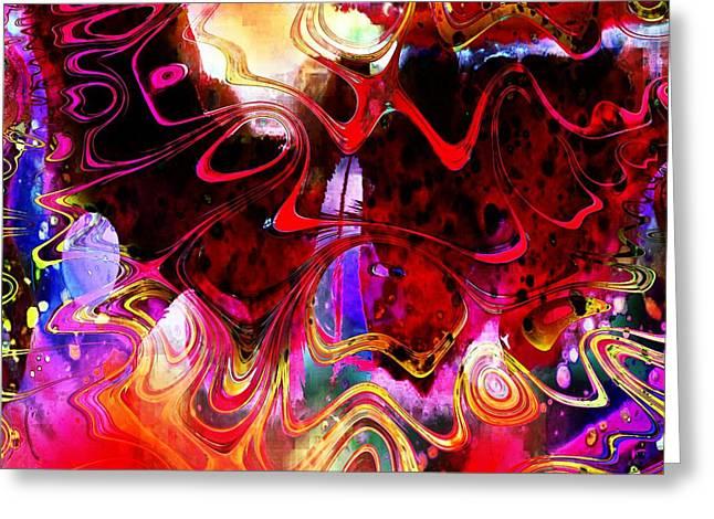 Fractals Fractal Digital Art Greeting Cards - The Disturbed Mind Greeting Card by Amanda Moore