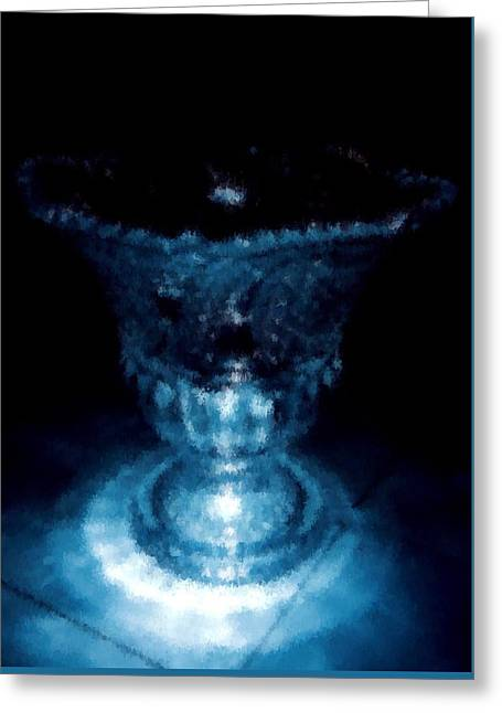 White Paintings Greeting Cards - The Divine Goblet  Greeting Card by Chiheb Eddine Fatnassi
