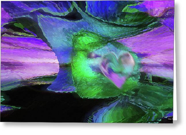 Religious Art Digital Art Greeting Cards - The Divine Presence Greeting Card by Linda Sannuti