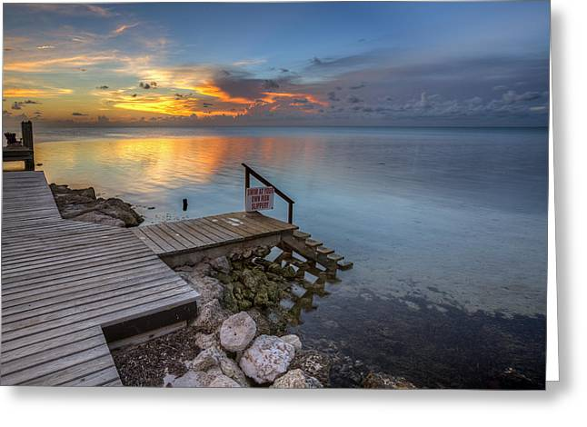 Ocean Shore Greeting Cards - The dock Greeting Card by Al Hurley
