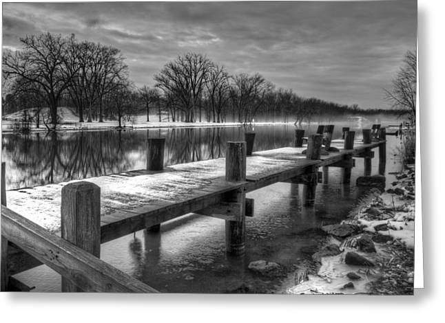 The Dock Greeting Card by Everet Regal