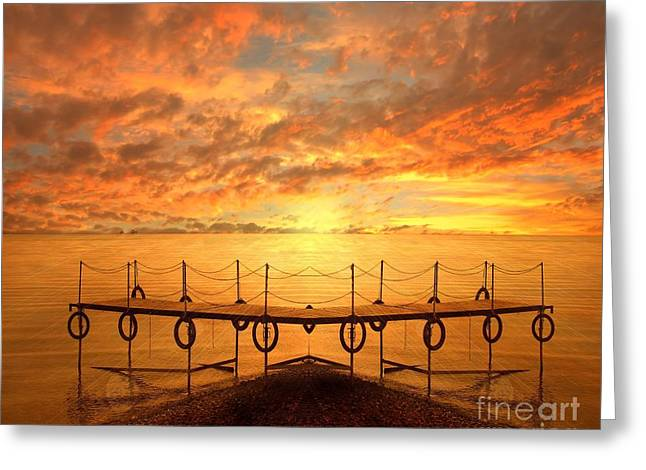 The Dock Greeting Card by Photodream Art