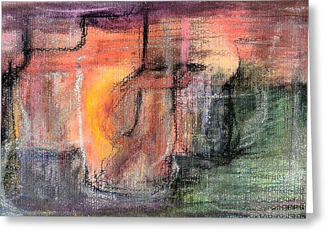 Abstract Digital Pastels Greeting Cards - The Docker Greeting Card by Tom Kecskemeti
