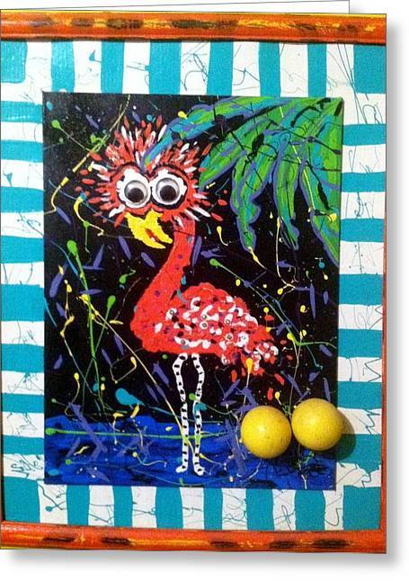 The Dodo Bird Greeting Card by Doralynn Lowe