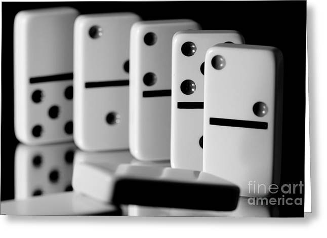 Strategy Greeting Cards - The Domino Effect Greeting Card by Charles Dobbs
