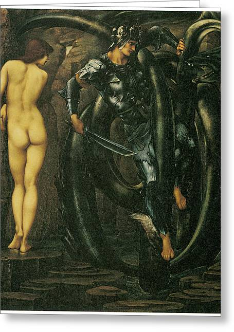 Perseus Greeting Cards - The Doom fulfilled Greeting Card by Edward Burne-Jones