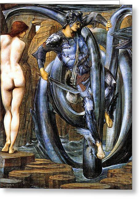 Slay Greeting Cards - The Doom Fulfilled Greeting Card by Edward Coley Burne-Jones