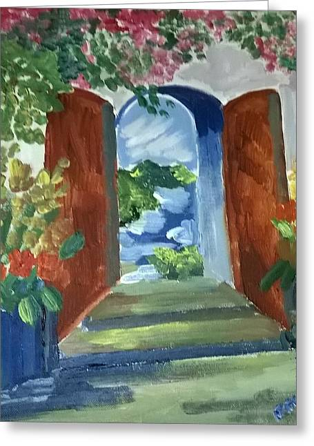 The Door Is Open ... As Paradise Beckons Greeting Card by Miss Ratul Banerjee