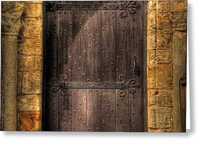 The Door Greeting Card by Svetlana Sewell