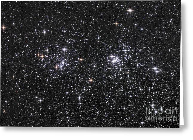 Double Cluster Greeting Cards - The Double Cluster, Ngc 884 And Ngc 869 Greeting Card by Robert Gendler