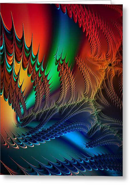 Abstract Digital Digital Greeting Cards - The Dragons Den Greeting Card by Kathy Kelly