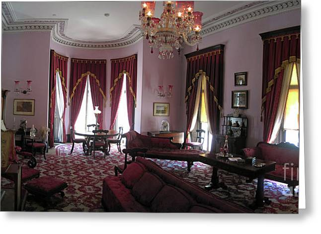 The Drawing Room- Dundurn Castle Greeting Card by Larry Simanzik