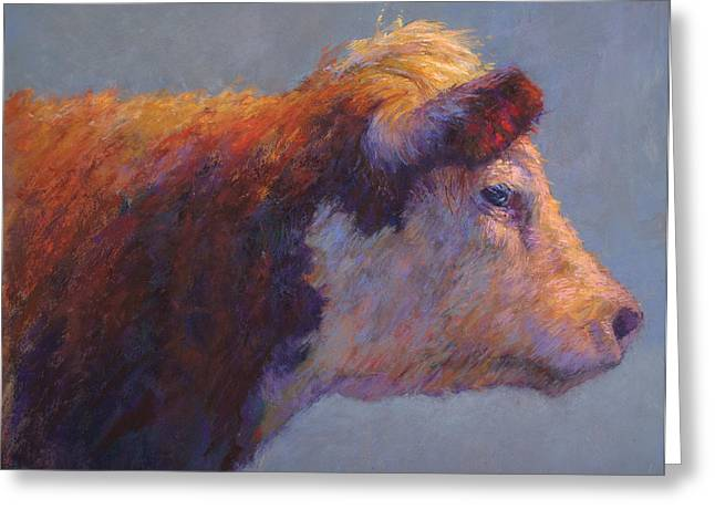 Farm Animals Pastels Greeting Cards - The Dreamer Greeting Card by Susan Williamson