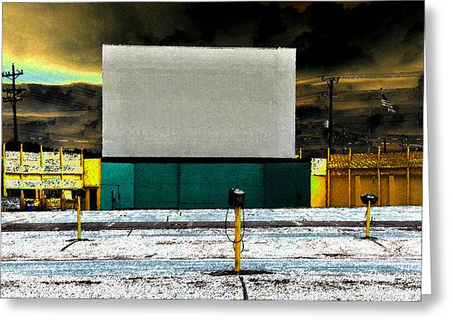 Old Drive In Greeting Cards - The Drive In Greeting Card by David Lee Thompson