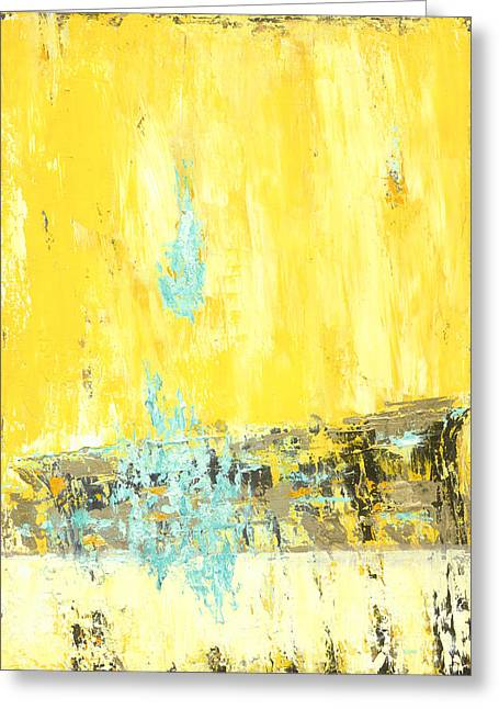 Abstract Movement Greeting Cards - The Drop Greeting Card by Romeo Zivoin