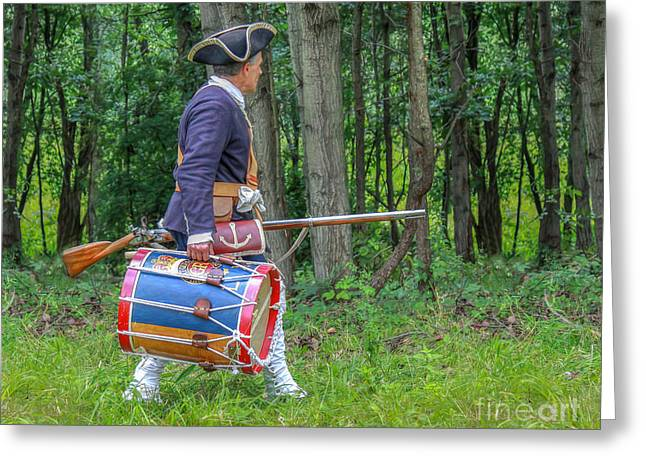 Powder Greeting Cards - The Drum Greeting Card by Randy Steele