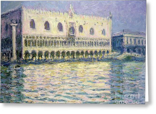 The Ducal Palace Greeting Card by Claude Monet