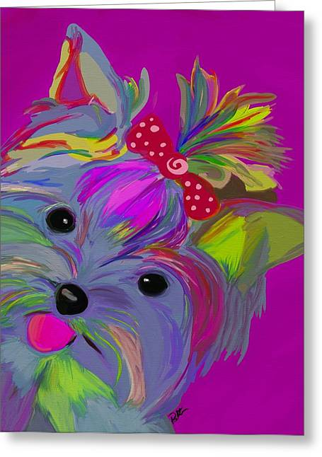 Purple Abstract Greeting Cards - The Duchess Greeting Card by Patti Siehien