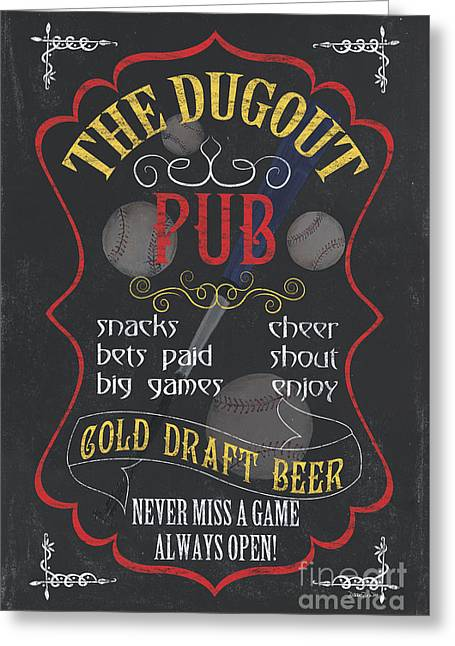 The Dugout Pub Greeting Card by Debbie DeWitt