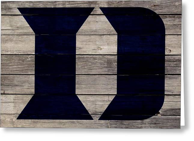 The Duke Blue Devils 3w Greeting Card by Brian Reaves