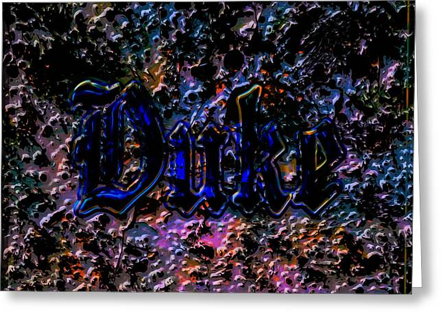 The Duke Blue Devils C1 Greeting Card by Brian Reaves